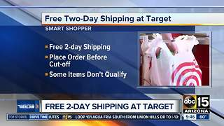 Get free two-day shipping at Target