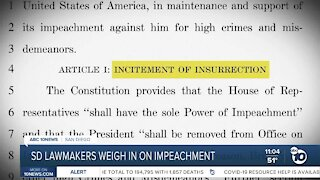 SD lawmakers weigh in on impeachment