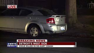 Child killed in go-kart crash on Detroit's west side