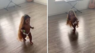 Sassy Daughter Caught Dancing Around Wearing Mum's New Wig