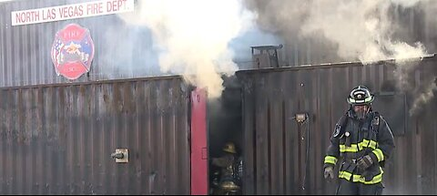 NLV Fire Department hosts aggressive fire control training