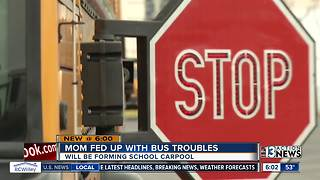Mom has carpool solution for unreliable school buses - Video