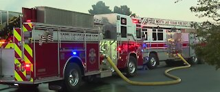 North Las Vegas FD: 1 person injured in structure fire near Lone Mountain Road