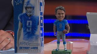 Lions giving away Matthew Stafford bobblehead for 2017 opener - Video