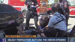 Delray firefighters battling the heroin epidemic - Video