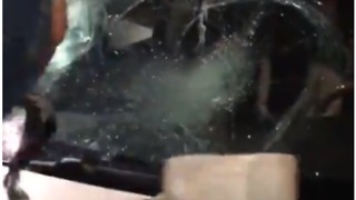 Man Smashes Through Car Windscreen During Event for XXXTentacion in Los Angeles