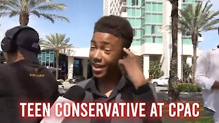 Teen Conservative for TRUMP at CPAC 2021