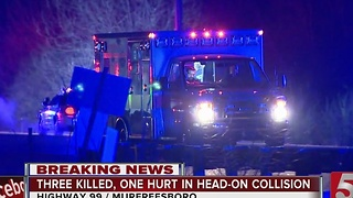 Authorities ID 3 Killed In Murfreesboro Crash - Video