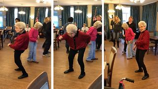Granny Dances To 'Electric Slide' And Goes Viral  - Video