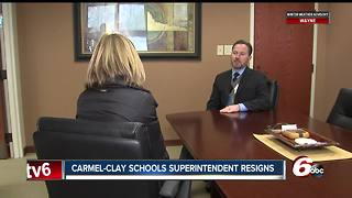 Carmel Clay Schools' superintendent resigns effective immediately - Video