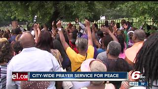 City-wide prayer service for peace after funeral shooting