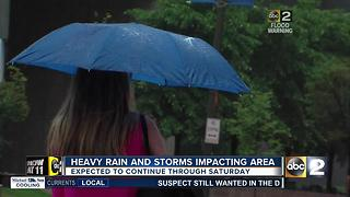 Heavy rain and storms cause flooding throughout Baltimore - Video