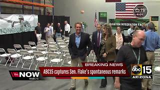 ABC15 caught audio from Senator Flake's open mic regarding President Trump - Video