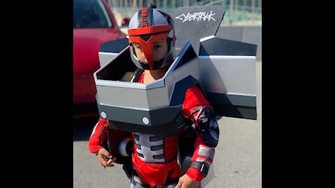 Cybertruck Transformer Halloween Costume