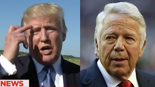 Donald Trump FLIPS OFF Patriots Owner Robert Kraft on National Television - Video