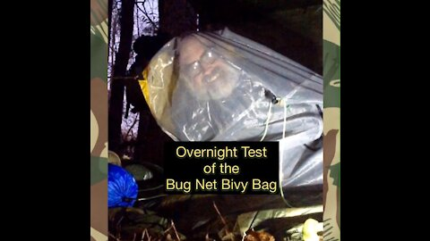 Overnight in the Bug Net Bivy Bag out at the Survival Site