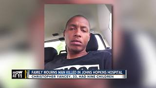 Baltimore family mourning man killed at Johns Hopkins Hospital - Video