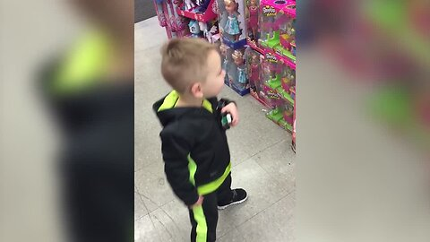 Singing Doll Inspires Little Boy to Dance