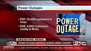 20,000 lose power amid powerful storms - Video