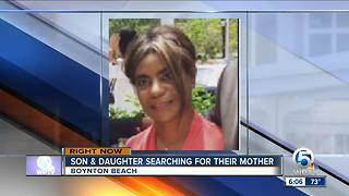 Son and daughter search for missing mother - Video