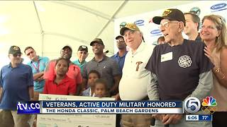 Veterans and active duty military honored at the Honda Classic - Video