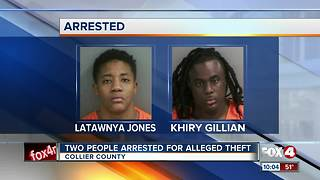 Two People Arrested For Alleged Theft - Video
