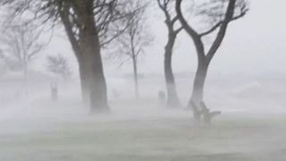 Winds Whip Up Seawater as Violent Storm Hits Netherlands - Video