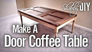 Make a coffee table from an old door - Video