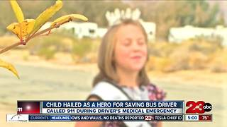 9-year-old saves bus driver's life - Video