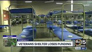Veterans shelter losing thousands in funding - Video