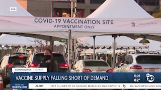 Vaccines supply falling short of San Diego County demand
