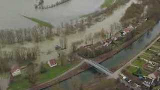 Drone Footage Shows Northern France Submerged Following Severe Rainfall