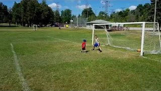 Little Brothers Practise Their Sweet Soccer Skills