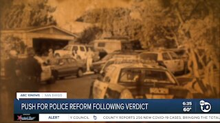 Local push for police reform after Chauvin verdict