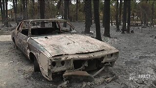 Collier County residents assess damages left behind by massive brush fire flames