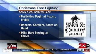 Christmas Tree Lighting at Town & Country Village - Video
