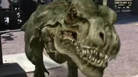 Dinosaur Attack Becomes Augmented Reality