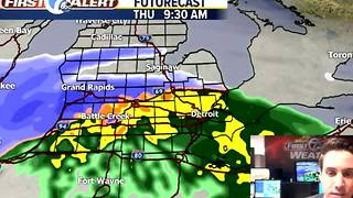 Thursday rain to snow - Video