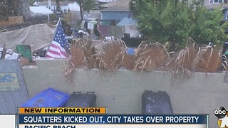 City kicks squatters out of Pacific Beach home - Video