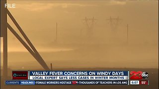 Strong winds creating concerns for Valley Fever infections