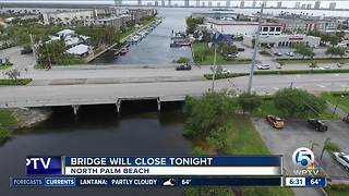 Bridge closure in North Palm Beach - Video