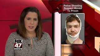 Officer shooting suspect in prison after hospitalization