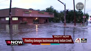 Flooding damages businesses along Indian Creek - Video