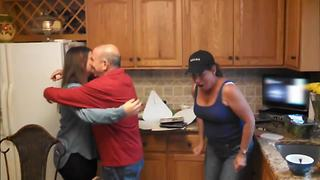 Mom has ultimate freak out over baby announcement - Video