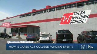 How is CARES Act college funding spent?