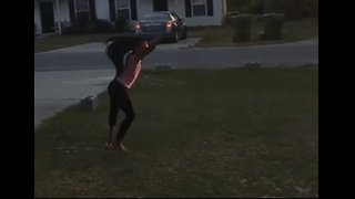 Young Girl With Prosthetic Leg Performs Impressive Tumbling Routine