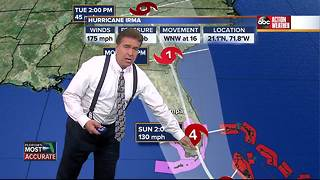 Hurricane Irma Update | Florida's Most Accurate Forecast with Denis Phillips on Thursday at 9pm - Video