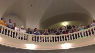 Teachers chants echo through state Capitol - Video