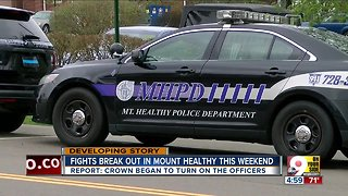 Weekend fights break out in Mount Healthy, injuring officers