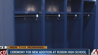 Ceremony for new additions at Ruskin High School - Video